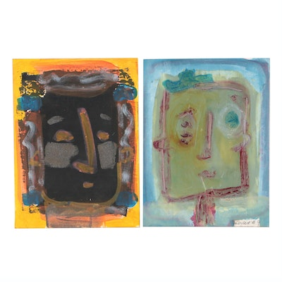 Merle Rosen Abstract Mixed Media Portraits