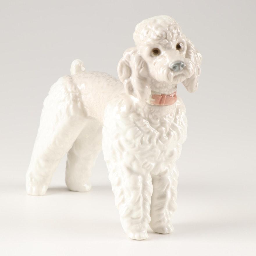 Lladro Porcelain Poodle Figurine