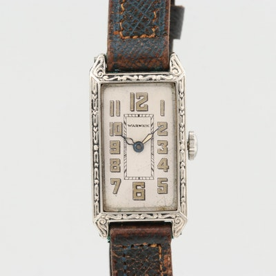 Vintage Warwick 10K Rolled Gold Plate Stem Wind Wristwatch