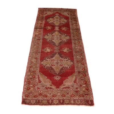 Hand-Knotted Turkish Konya Wool Rug
