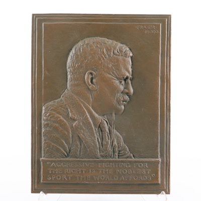 James Earle Fraser Reproduction Bas-Relief of Theodore Roosevelt