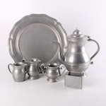 """Old Country Reproductions """"Pewtarex"""" and Cambridge Metalware Tea Service"""