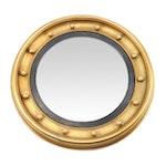 Regency Style Giltwood Bullseye Convex Mirror