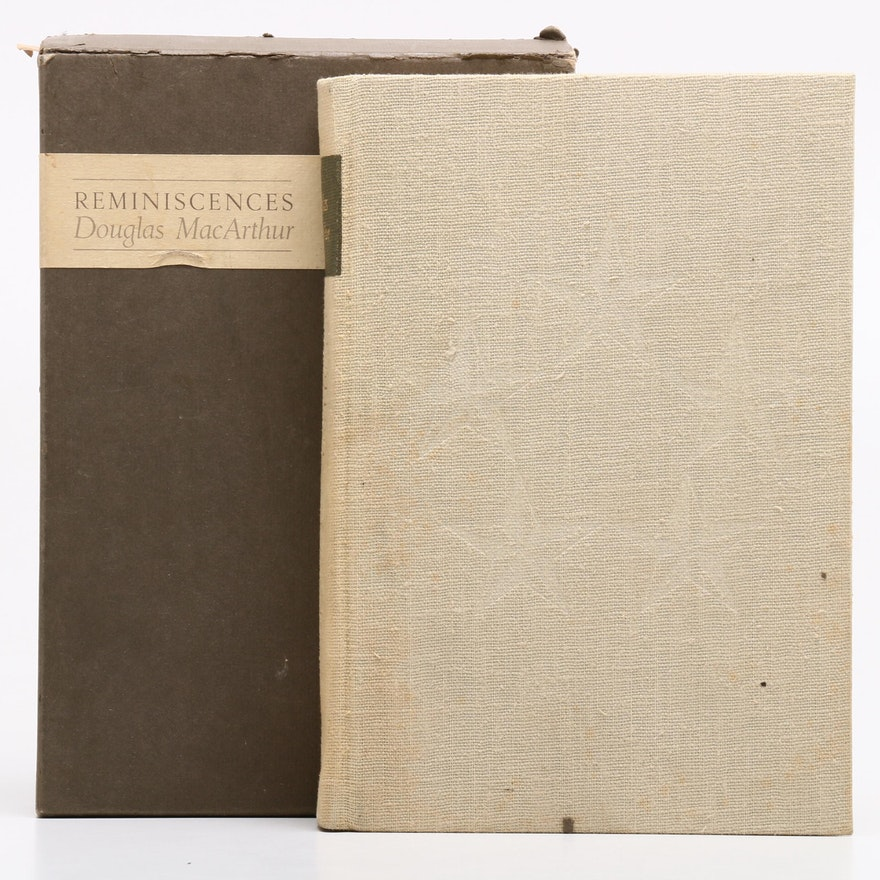 "1964 Douglas MacArthur Signed Limited First Edition ""Reminiscences"", Visual COA"