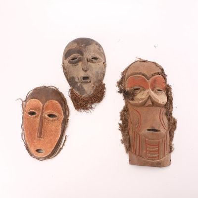 Hand-Crafted African Style Wooden Masks