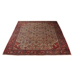 Hand-Knotted Persian Mahal Wool Rug