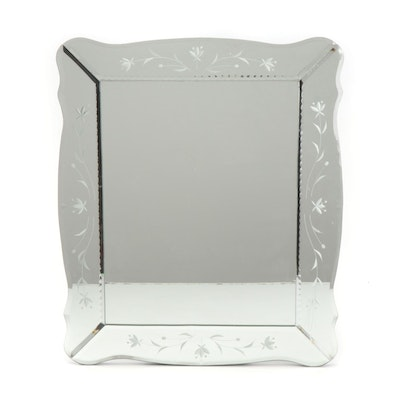 Venetian Style Etched Floral Mirror
