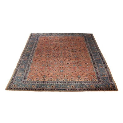 Hand-Knotted Persian Tabriz Room Sized Wool Rug