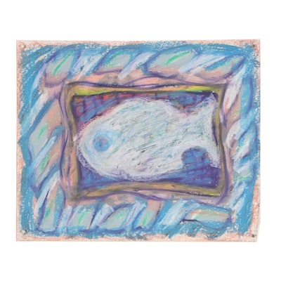 Merle Rosen Abstract Pastel Drawing