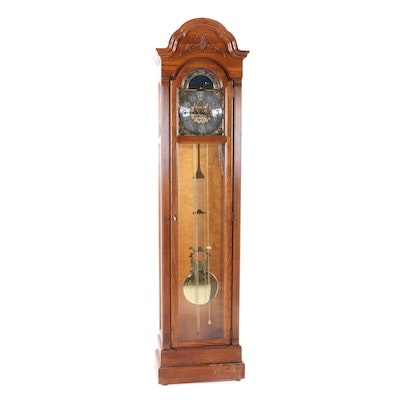 Howard Miller Grandfather Clock in Yorkshire Oak Finish