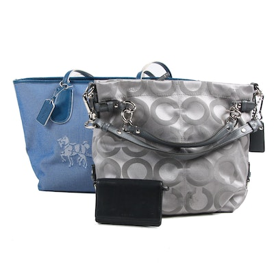 Coach Sateen Canvas Hobo Bag, Horse and Carriage Tote and Leather Wallet