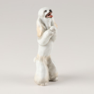 "Herend Hand Painted ""Poodle"" Figurine, Late 20th Century"