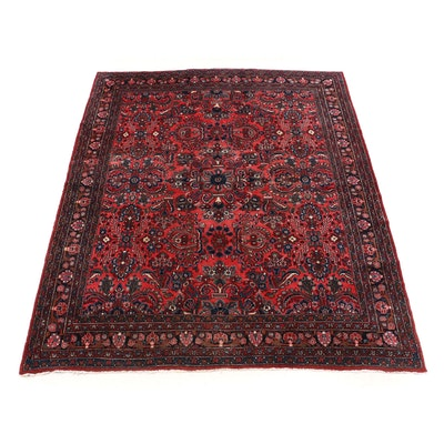 Hand-Knotted Persian Lilihan Wool Room Sized Rug