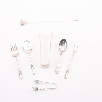 Mixed Sterling Silver and Silver Plate Serving Utensils