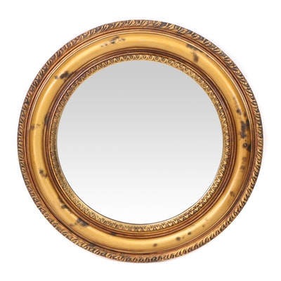 Composite Round Hanging Wall Mirror, Contemporary