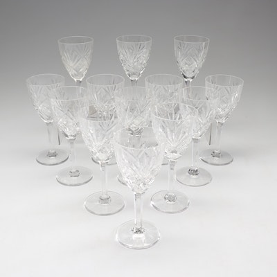 "St. Louis ""Chantilly Clear"" Crystal Wine Glasses"