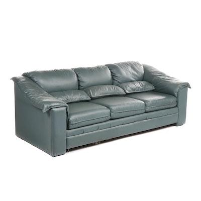 Schweiger Furniture Teal Upholstered Sofa