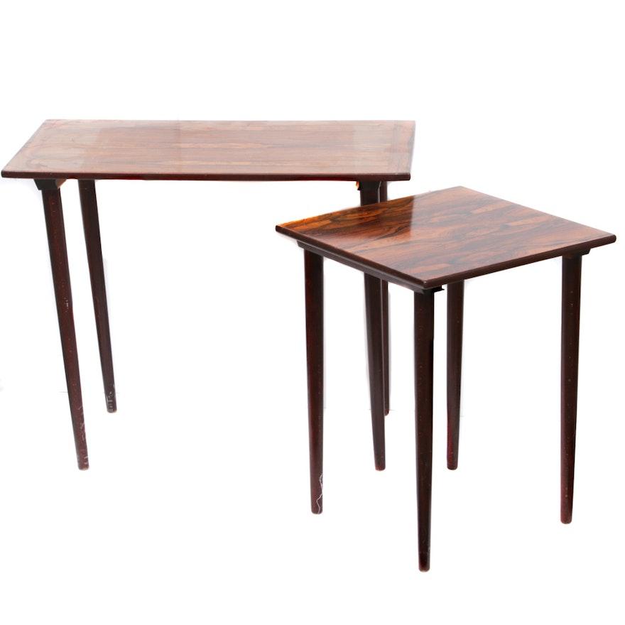 Mid-Century Norwegian Rosewood Side Tables