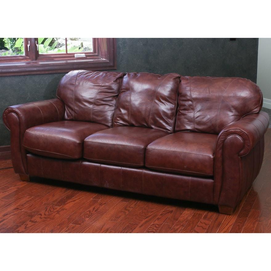 Lane Leather Sofa Ebth