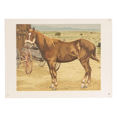 D. Herbert Color Lithograph of Horse