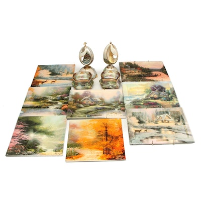 Thomas Kinkade Collector Plates and Musical Prayer Boxes
