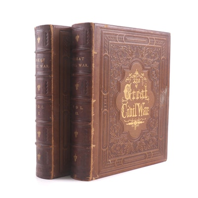 """The Great Civil War"" Two Volume Partial Set, 1860s"