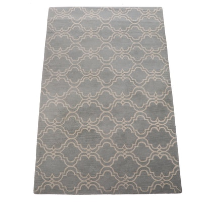"Tufted Pottery Barn ""Scroll Tile"" Wool Rug"