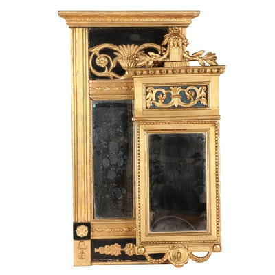 Empire Style Giltwood Tabernacle and Girandole Mirrors