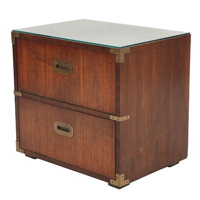 Lane Campaign-Style Nightstand; Mid to Late 20th Century