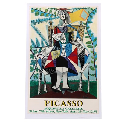 Offset Lithographic Picasso Exhibition Poster