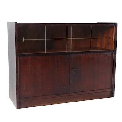 Mahogany-Stained Credenza, Second Half 20th Century