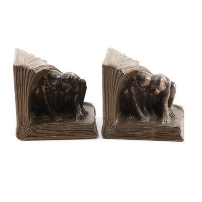 Jennings Brothers Monkey Bookends