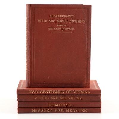 Antique Shakespeare Books, Five Volume Partial Set