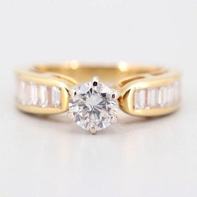 18K Yellow Gold 1.56 CTW Diamond Ring