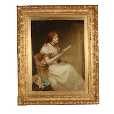 """Sir William Quiller Orchardson Oil Painting """"The Letter"""""""