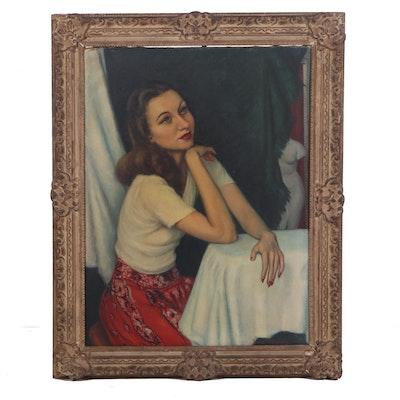 Edna M. Graves Portrait Oil Painting