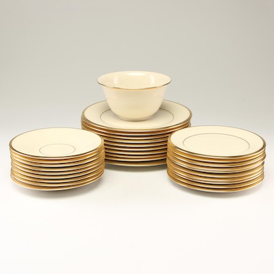 "Lenox ""Eternal"" Bone Porcelain Dinnerware, Late 20th Century"