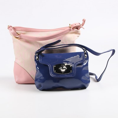Furla Signature Canvas and Patent Leather Shoulder Bags
