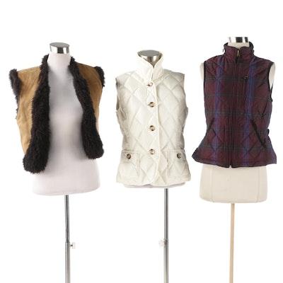 Women's Vests Including Talbots, Lauren Ralph Lauren, and Faux Suede