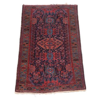 Hand-Knotted Anatolian Çanakkale Wool Rug