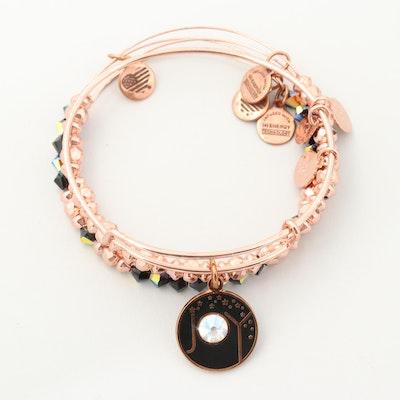 Alex and Ani® Rhinestone, Glass and Enamel Charm Bangle Bracelets