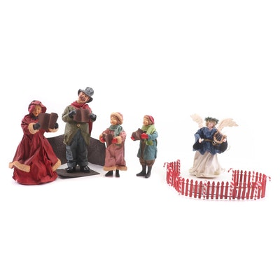Possible Dreams Clothtique Christmas Caroler Dolls and Accessories
