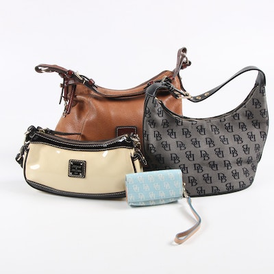 Dooney & Bourke Leather, Patent Leather and Signature Canvas Bags and Case