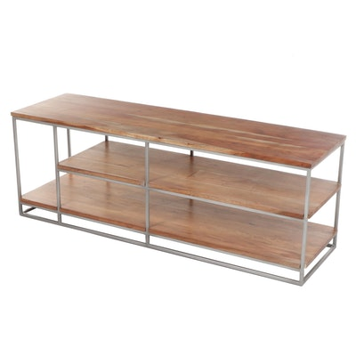 "Contemporary Modern CB2 Wood and Metal ""Framework"" Credenza"