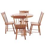 Rustic Pine Breakfast Dining Set