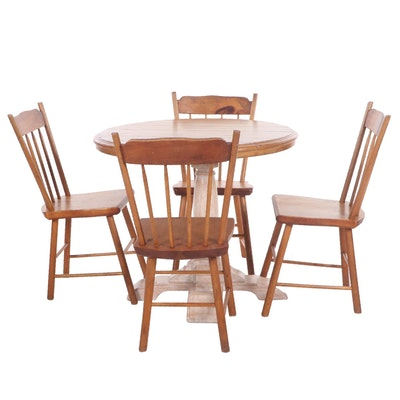 Rustic Pine Breakfast Dining Set