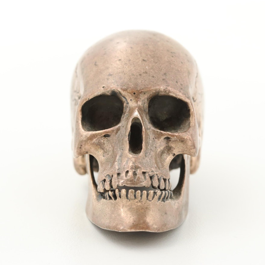 Sterling Silver Articulated Skull