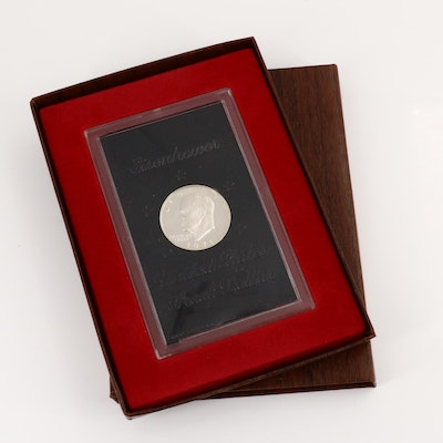 A 1971-S Eisenhower Proof Silver Dollar