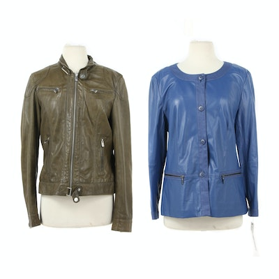 Lafayette 148 New York and Oakwood Leather Jackets