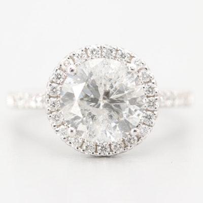 B & Co. 18K White Gold 2.71 CTW Diamond Ring